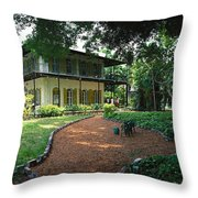 Usa, Florida, Key West, Ernest Throw Pillow
