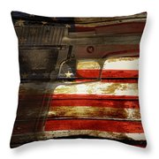 Usa Handgun Throw Pillow