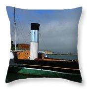 Usa Paddle Steamer Eppleton Hall Newcastle Throw Pillow