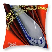 Usa The Comet Vintage Travel Poster Restored Throw Pillow