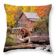 Usa, West Virginia, Glade Creek Grist Throw Pillow