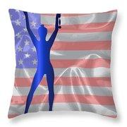 Usa Winner Background Throw Pillow