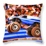 Usaf Afterburner Monster Jam Throw Pillow