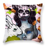 Usagicatrina Throw Pillow