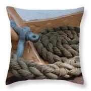 Uscg Line Throw Pillow