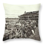 Useable Junk B Throw Pillow
