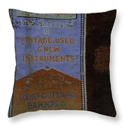 Used Guitars Throw Pillow