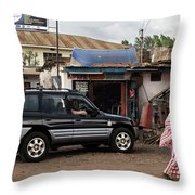 Used Spare Parts Throw Pillow
