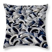 Used Tires Throw Pillow