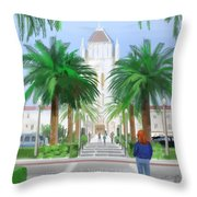 Usf Lone Mountain San Francisco Ca Throw Pillow