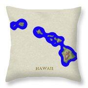 Usgs Map Of Hawaii Throw Pillow