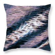 Ushuaia Ar - Ocean Ripples 1 Throw Pillow