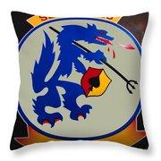 Usn Seawolves Logo Throw Pillow