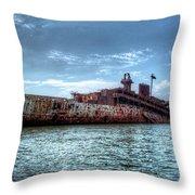 Usns American Mariner - Target Ship, Chesapeake Bay, Maryland Throw Pillow