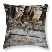 Usps Two Throw Pillow