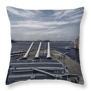 Uss #64 Wisconsin Throw Pillow