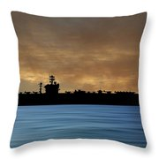 Uss Abraham Lincoln 1988 V2 Throw Pillow