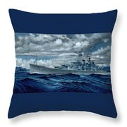 Uss Canberra Cag-2  Throw Pillow