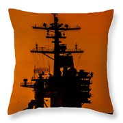 Uss Carl Vinson At Sunset 2 Throw Pillow