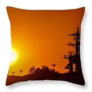 Uss Carl Vinson At Sunset 3 Throw Pillow