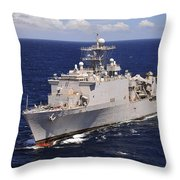 Uss Comstock Transits The Indian Ocean Throw Pillow