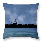 Uss Constellation 1956 V1 Throw Pillow