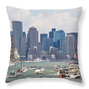 Uss Constitution Boston Cruise Throw Pillow by Susan Cole Kelly