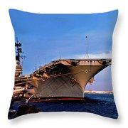 Uss Forrestal Cv-59 Throw Pillow