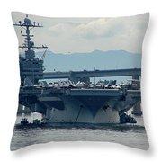 Uss George Washington Throw Pillow