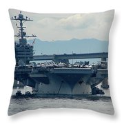 Uss George Washington Throw Pillow