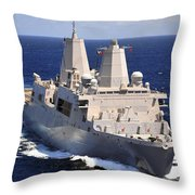 Uss Green Bay Transits The Indian Ocean Throw Pillow