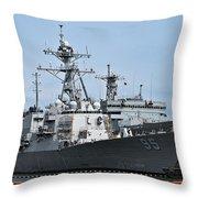 Uss James E. Williams Ddg-95 Throw Pillow
