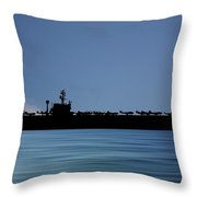 Uss John F. Kennedy 1968 V4 Throw Pillow