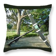 Uss Maine Anchor Throw Pillow