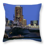Uss Midway San Diego Ca Throw Pillow
