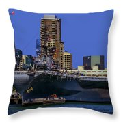 Uss Midway San Diego Ca Throw Pillow