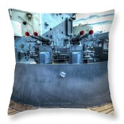Uss North Carolina, Bb 55, 40mm Guns Throw Pillow