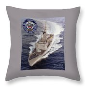 Uss Oliver Hazard Perry Throw Pillow