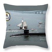 Uss Rhode Island Throw Pillow