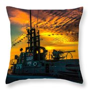 U.s.s. Silversides Sunset Throw Pillow