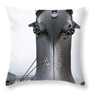 Uss Wisconsin - Head-on Throw Pillow