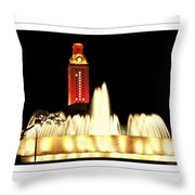 Ut Tower Poster Throw Pillow