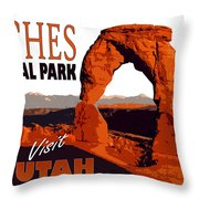 Utah, Arches, National Park Throw Pillow