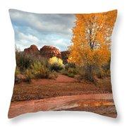 Utah Autumn Throw Pillow
