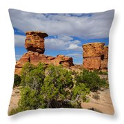 Utah Canyonlands Throw Pillow
