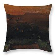 Utah Horizon Throw Pillow