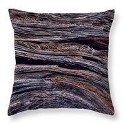 Utah Juniper Root Detail Throw Pillow