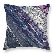Utah Mountains High Altitiude Aerial Photo Throw Pillow