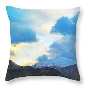 Utah Mountains Throw Pillow