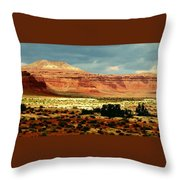 Utah Plateau Mtn M 302 Throw Pillow